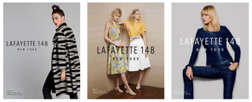 Shop online at: www.lafayette148ny.com/shop-catalogs